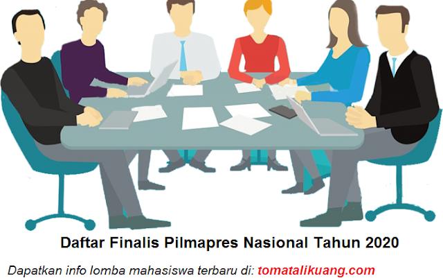 daftar finalis pilmapres tingkat nasional tahun 2020 diploma sarjana tomatalikuang.com