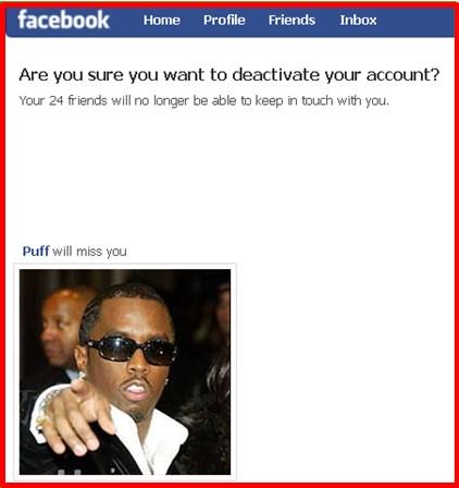 Deactivate Facebook Account 2017