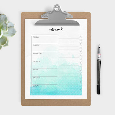 free planner pages to print