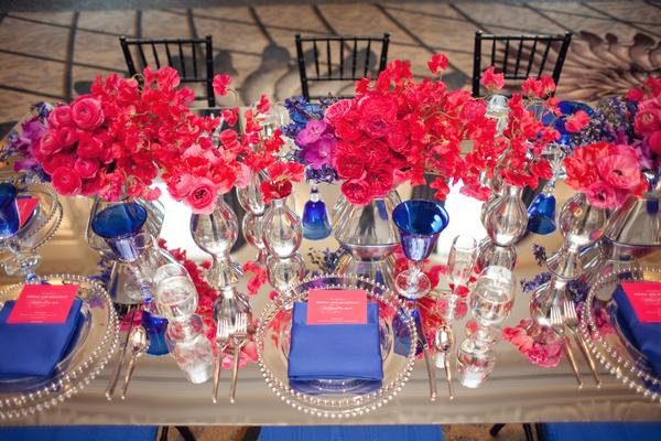 Coral, Blue And Pink Wedding Theme