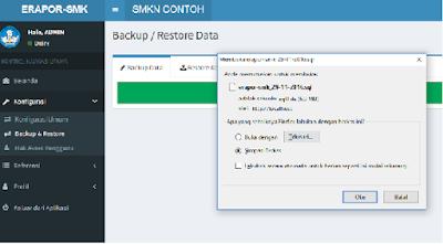 Cara Backup dan Restor Data e-Rapor SMK
