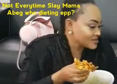 mercy aigbe eating amala ewedu