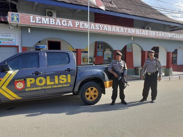 Untuk Memastikan Lapas Aman, Sat Sabhara Polres Tj Balai Patroli ke Lapas Kelas II Pulo Simardan Kota Tanjung Balai