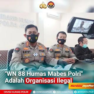 Kabid Humas Polda Jatim Nyatakan Ormas WN 88 Humas Mabes Ilegal