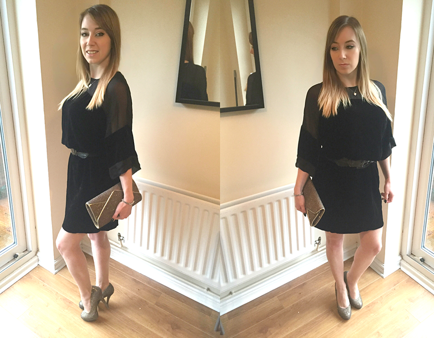 OOTD | Designer Ghost Kinsley Black Dress