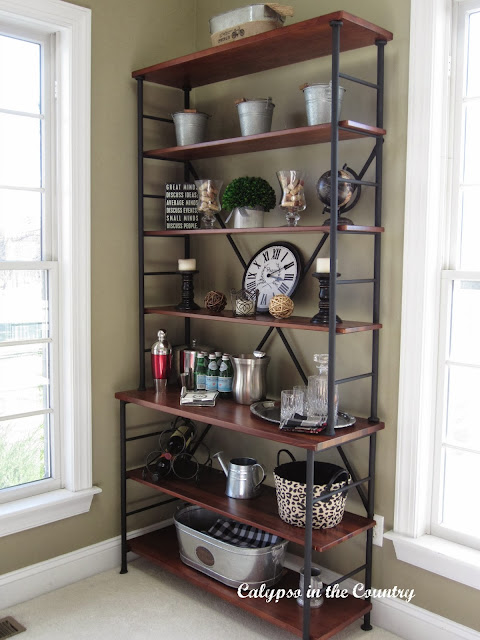 Ballard Shelves - Sonoma Bookcase decorated for Fall