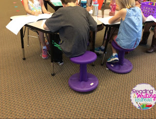 Image of Wobble Stools in Classroom