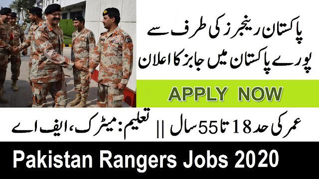 Pakistan Rangers Jobs 2020 Apply Now