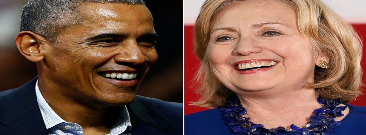 Presidente Obama  Hillary Clinton