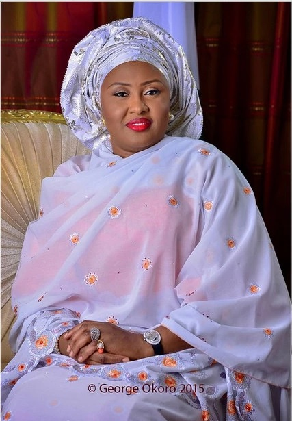 Heart of gold! Aisha Buhari donates bags of rice to Christians for Christmas