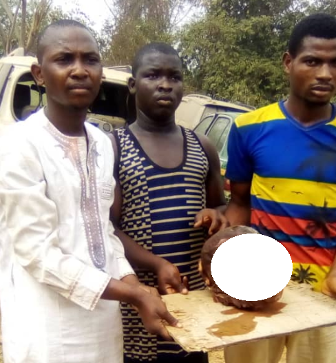 Graphic photo: Alfa and others arrested for stealing the head of a corpse for ritual purpose