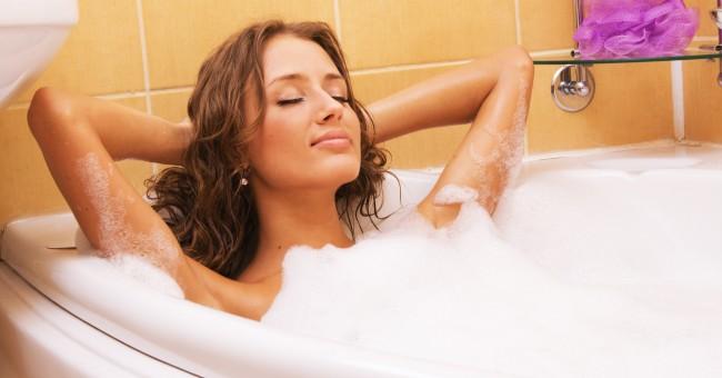 Relajate con un baño antes de irte a dormir
