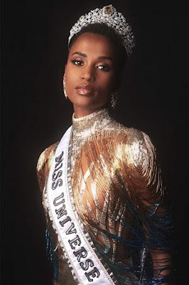 Zozibini Tunzi miss universo 2019 e representatividade negra