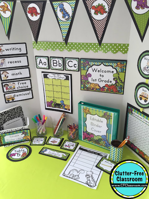 Classroom Ideas Printables ~ Dinosaur themed classroom ideas printable