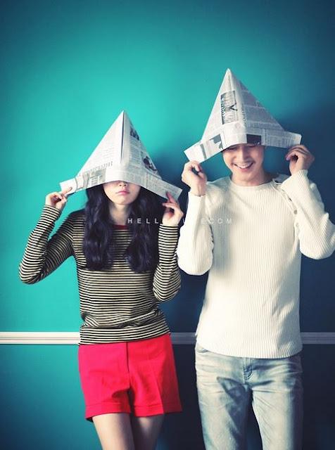 sombrero hecho con papel de periódico