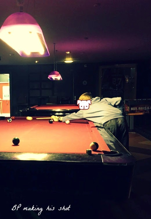 Morgan's Milieu | Playing Pool at Riley's, Nottingham: BP playing pool