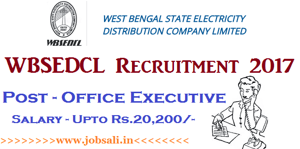 WBSEDCL Careers, Govt jobs in West Bengal