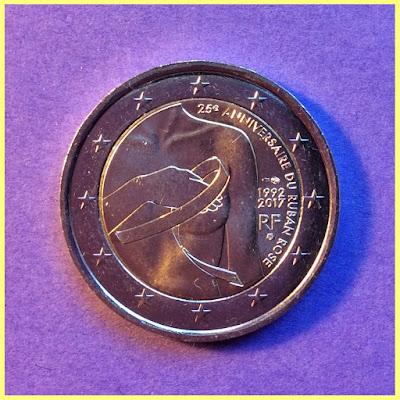 2 Euros Francia Lazo Rosa