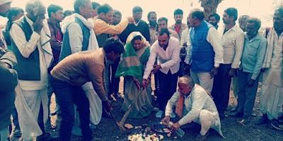 जनपद अध्यक्ष ने किया चार गौ-शालाओं का भूमिपूजन -badarwas news