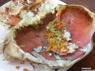 steamed Giant Mud crab