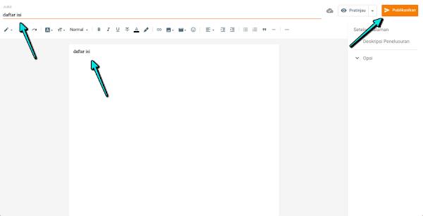 membuat halaman di blogger