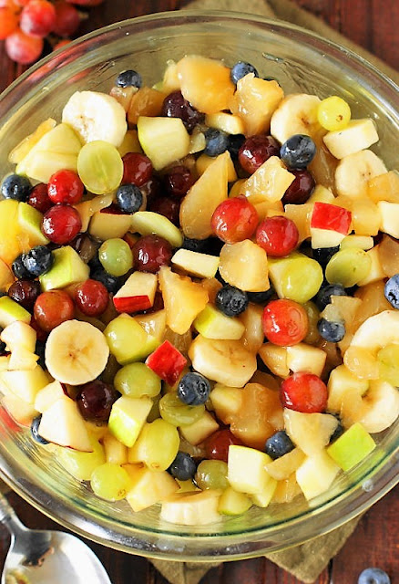 Fruit Salad Glazed with Apple Pie Filling Image