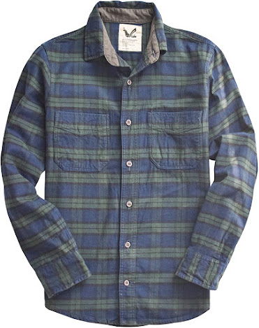 Vintage Plaid Flannel Shirts For Men