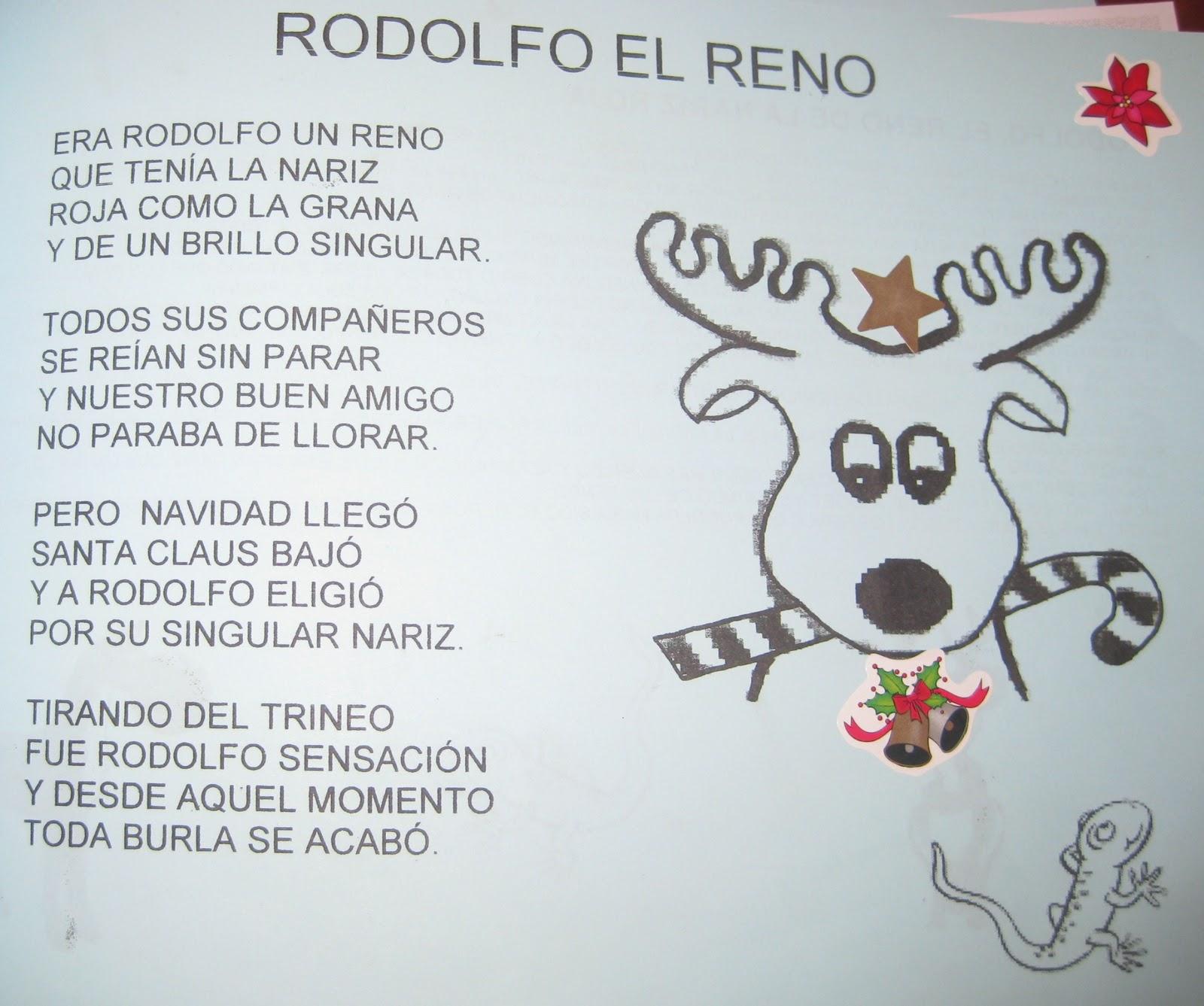 villancicos navideños rodolfo el reno lyrics