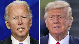 US President Donald Trump and Democratic challenger Joe Biden