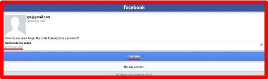 sign in facebook mobile