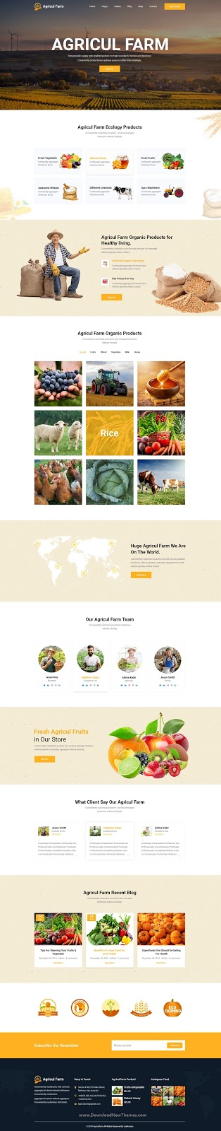 Agriculture & Organic Food PSD Template