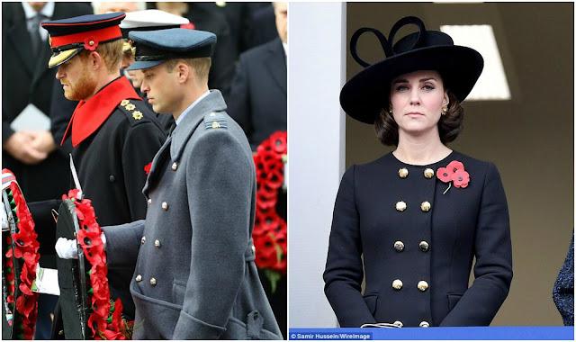Kate, William i inni członkowie BRK na Niedzieli Pamięci
