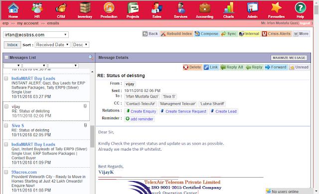 Tuhund ERP Email Inbox