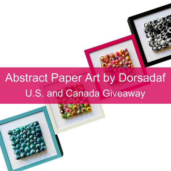 square colorful framed paper art pieces