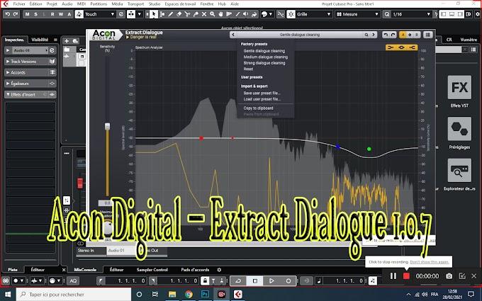 Acon Digital – Extract Dialogue 1.0.7 VST, VST3, AAX, AU WIN.OSX x86 x64