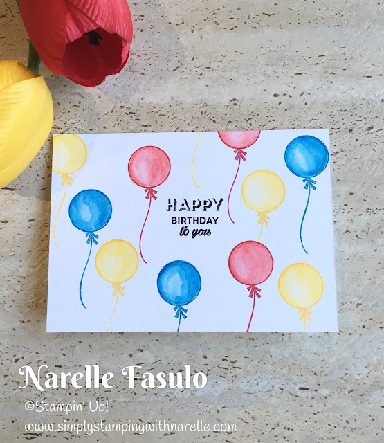 Birthday Bright & Watercolour Pencils - Simply Stamping with Narelle - available here - https://www3.stampinup.com/ecweb/default.aspx?dbwsdemoid=4008228