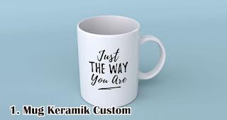 Mug Keramik Custom merupakan salah satu pilihan isian hampers menarik untuk awal tahun