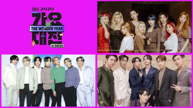 Live Streaming SBS Gayo Daejun 2020