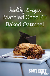Marbled Chocolate Peanut Butter Baked Oatmeal Recipe
