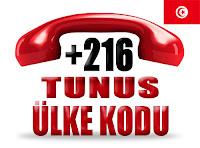 +216 Tunus ülke telefon kodu
