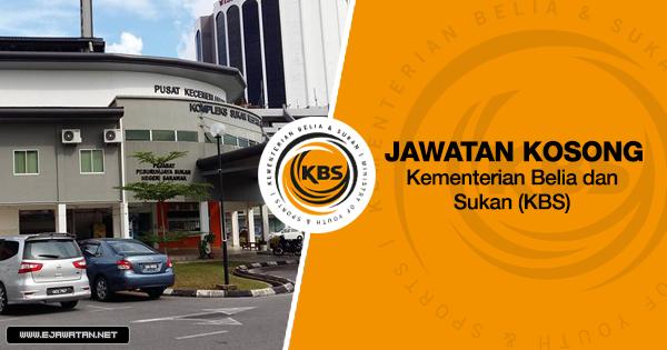 Jawatan Kosong di Kementerian Belia dan Sukan (KBS) 2020