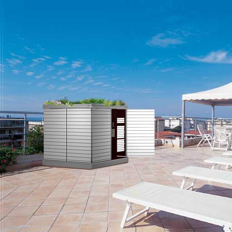 Garten[q] :: Moderne Gartenhäuser, Gartenschränke, Müllboxen Und ... Modernes Gartenhaus Fur Gartengerate
