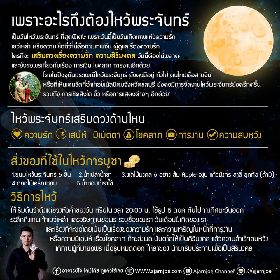 วันไหวพระจันทร์ ขอพรเสริมดวงความรักและโชคลาภ