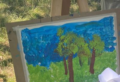 dipinto villa borghese parco Cora figlia di Caterina Balivo