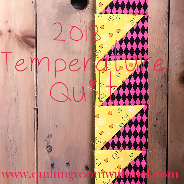 Join me as we make a temperature quilt to document the highs and lows of 2018.