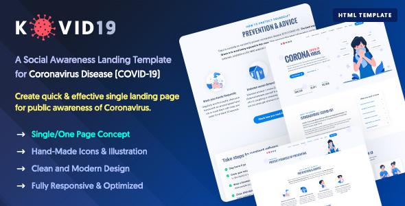 COVID19 - Coronavirus Prevention & Awareness HTML Template