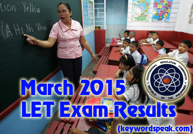 Elementary March 2015 Teachers LET Exam Results