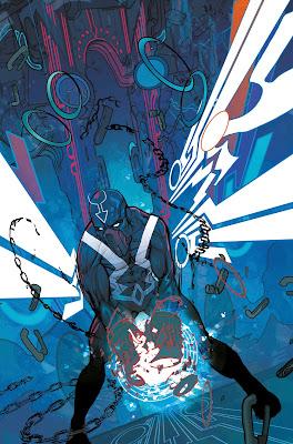 illustration plein page de Flèche Noire brisant ses chaines!