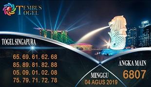 Prediksi Togel Angka Singapura Minggu 04 Agustus 2019