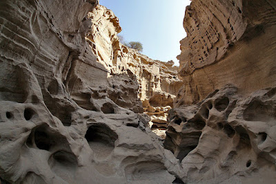 Located to the north of Berkeh-ye Khalaf village, only five km away from the southern edge of Qeshm Island in the Persian Gulf, the Star Valley is one of the most-visited sites among all Geosites.